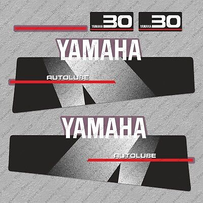 Yamaha 30 HP Autolube Two Stroke Outboard Engine Decals Sticker Set reproduction for sale  Shipping to South Africa