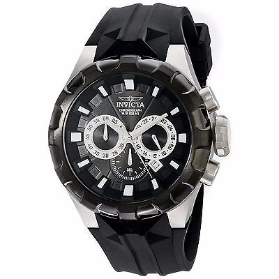 Invicta Mens I-Force 16918 Chronograph Black Dial Silicone Strap Date 100M Watch