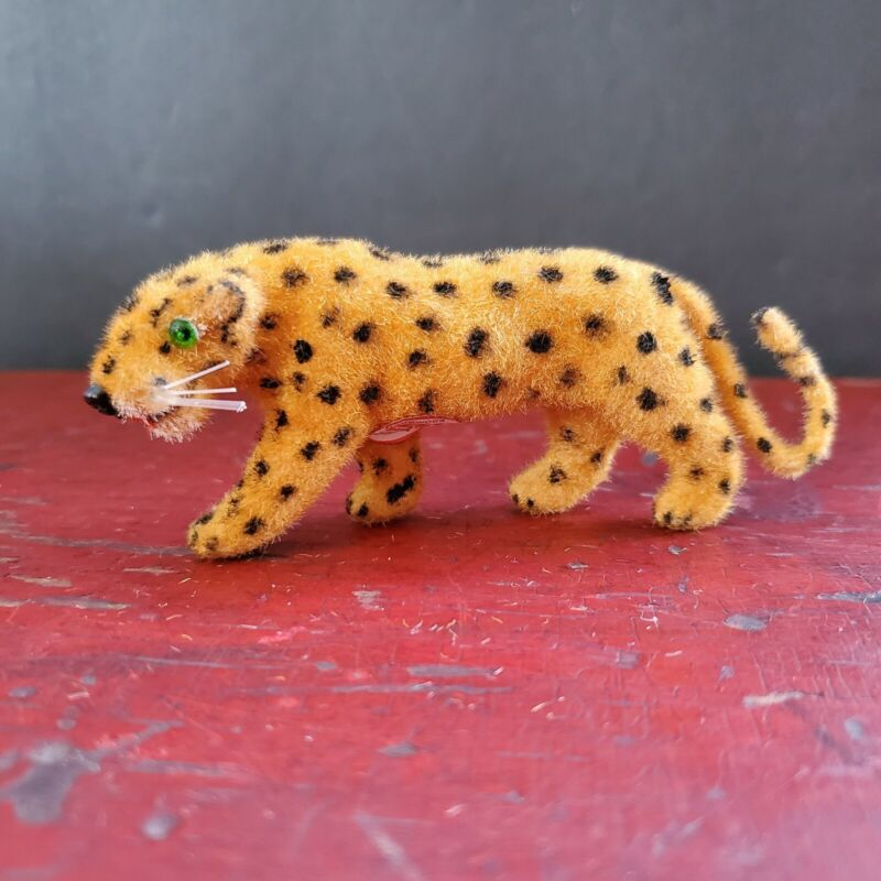 Wagner Kunstlerschutz Leopard Flocked Animal Figure Vintage 1966-83 Putz