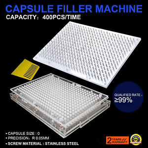 CAPSULE FILLER+POWDER PRESSING PLATE PILLS MEDICATION NO-CORROSIVE UPDATED