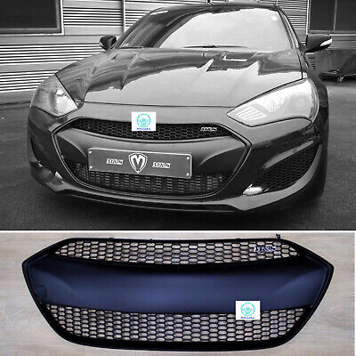 M&S Matte Black Radiator Grille Replacement for Hyundai Genesis Coupe 2013-2016