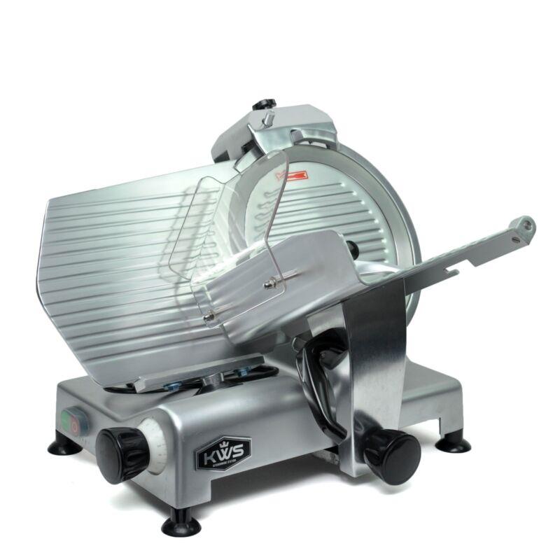 "KWS Premium Commercial 420W Electric Meat Slicer 12"" Frozen meat Deli slicer"