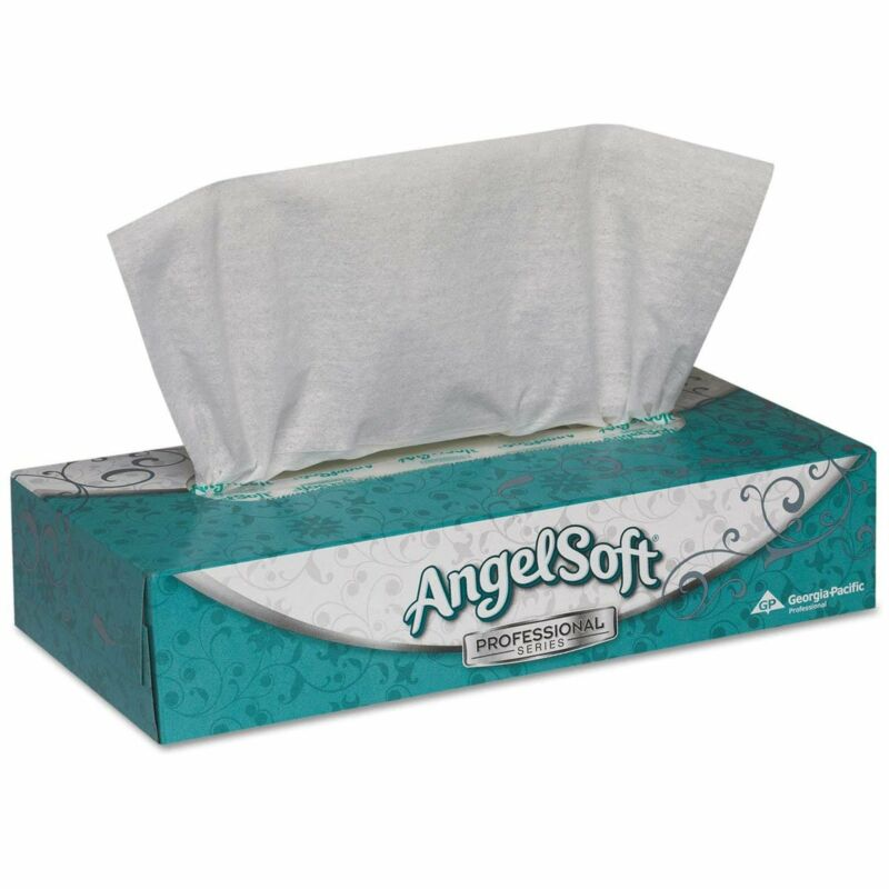 Angel Soft Professional Series 2-Ply Facial Tissue Flat Box 3000 per Case 48580