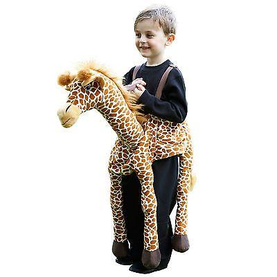 Mädchen Jungen Kinder darauf Reiten Giraffe Überziehen Kostüm Safari Play