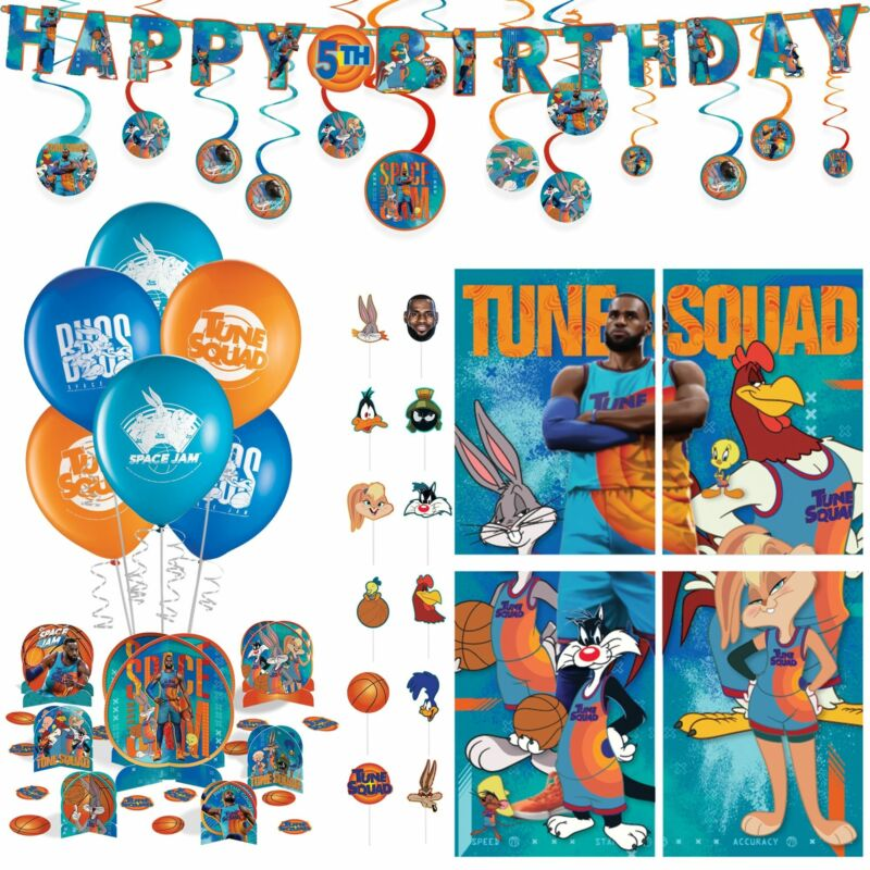 Space Jam 2 Birthday Room Decorations Backdrop Balloons Banner Centerpieces