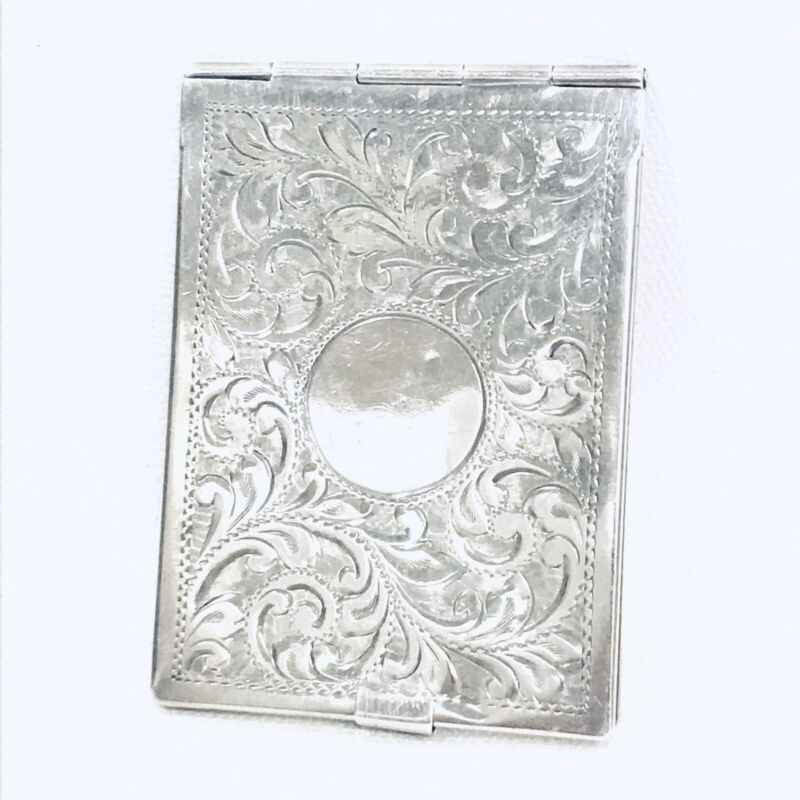 Shepheard & Co Sterling Silver 925 Calling Card Case Celluloid Note London 1909