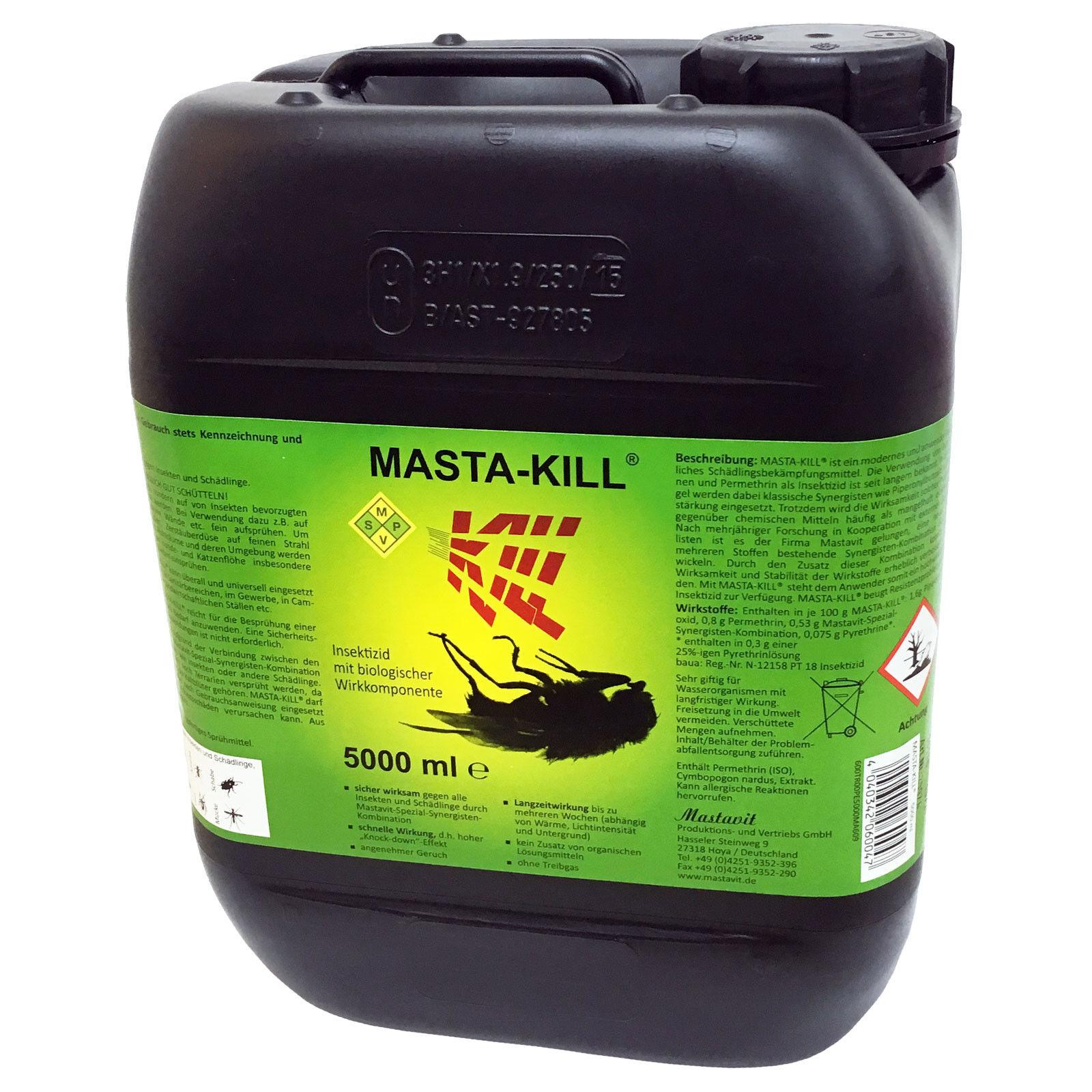 Masta Kill 5 Liter Insektenvernichter Fliegenspray Fliegenbekämpfung 5L 5 L
