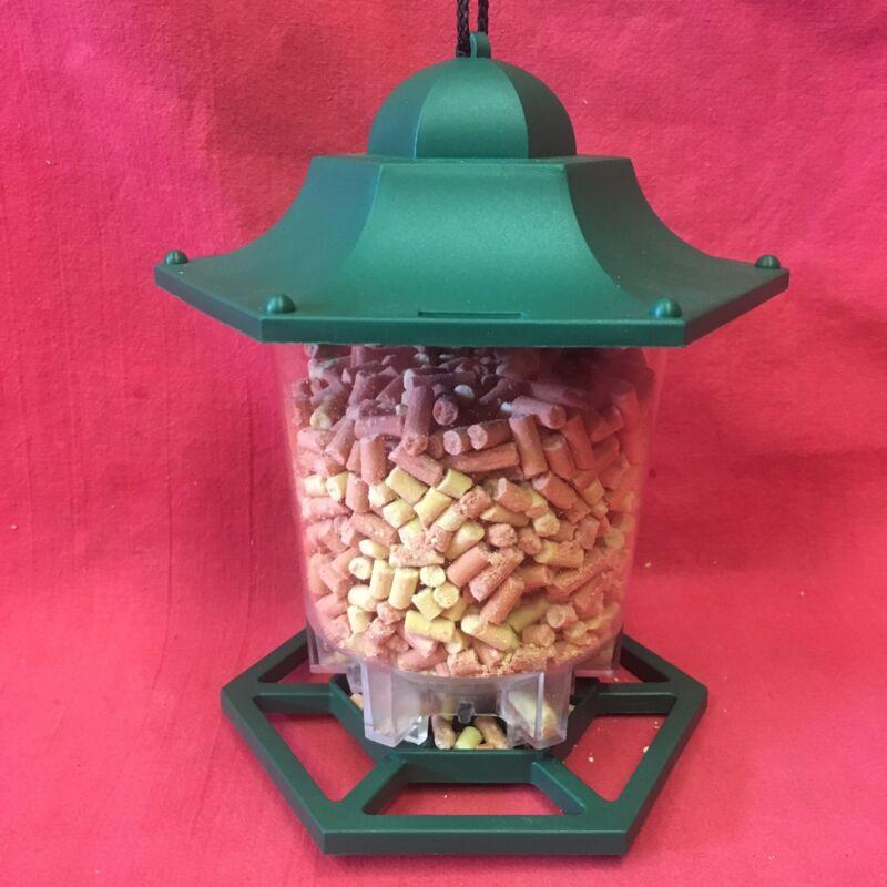 Hexagon+Plastic+Wild+Garden+Bird+Seed+Feeder+6+Multi+Port+Perch+FREE+SUET+PELLET