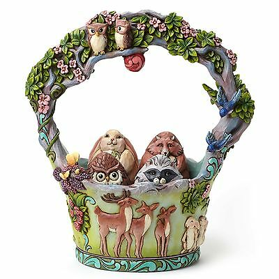 Enesco Jim Shore Heartwood Creek Easter Woodland Basket w/ Eggs Figurine 4048850