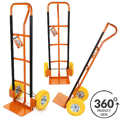 Hand Sack Truck Heavy Duty Industrial Trolley Puncture Proof Wheels Orange Marko