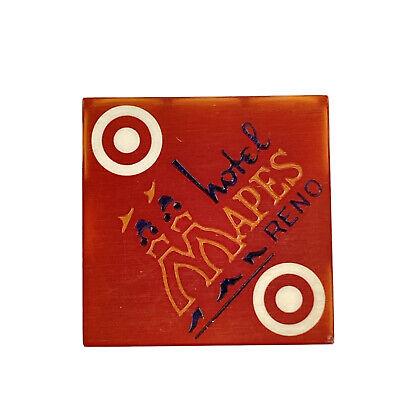 Mapes Hotel Reno Vintage Red Casino Dice Set of 4 Die Target Numbers Man Cave