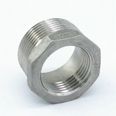 304 Stainless Steel Reducer 1-14 Bsp Male To 1 Bsp Female Pipe Fitting