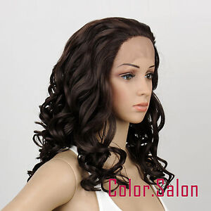 HAND-TIED-Synthetic-Hair-LACE-FRONT-FULL-WIGS-GLUELESS-Dark-Brown-21-4