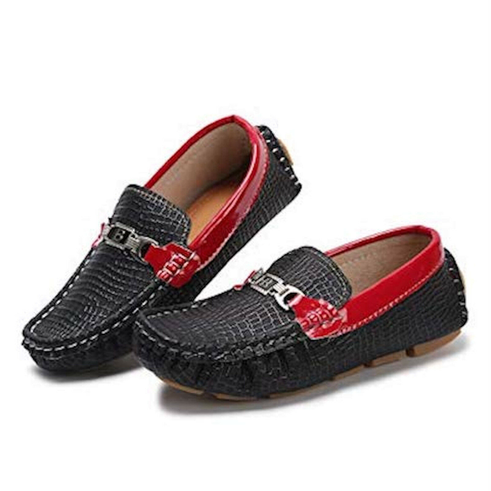 Hawkwell Kids Loafer Moccasin Oxford Driver Shoes  2 M US