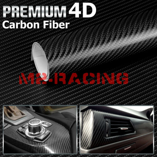Style:4D:3D 4D 5D 7D Forged Matte Gloss Semi Black Carbon Fiber Vinyl Wrap Sticker
