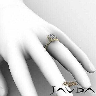 Halo Emerald Diamond Vinatge Engagement Ring GIA Certified H SI1 Platinum 2 ct 11