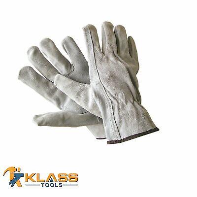 Suede Leather Working Gloves 1 Pair By Klasstools