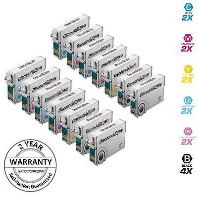 14Pk Ink Cartridges for Epson T078 Stylus Photo R260 R280 R380 RX580 RX595 RX680 ()