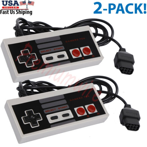2 Pack Controller For NES-004 Original Nintendo NES Vintage Console Wired Gamepd