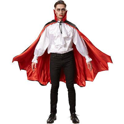 Vampir Umhang Unisex Kostüm Karneval Fasching Halloween Dracula Fledermaus Cape