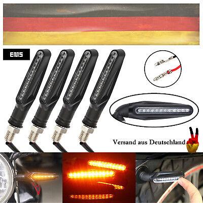 4X Motorrad 12 LED Lauflicht Blinker Sequentiell mit Rücklicht Blade Schwarz DE online kaufen