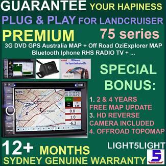 DVD GPS Bluetooth USB OZIEXPLORER TOPOMAP LANDCRUISER 75 SERIES Narwee Canterbury Area Preview
