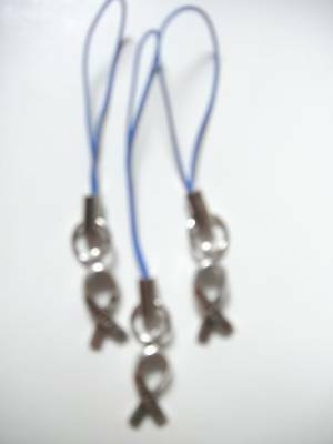 Colon/Katrina/Child Abuse Awareness DARK BLUE Ribbon Pullup Cord Hope Charm 10PK Child Abuse Blue Ribbons