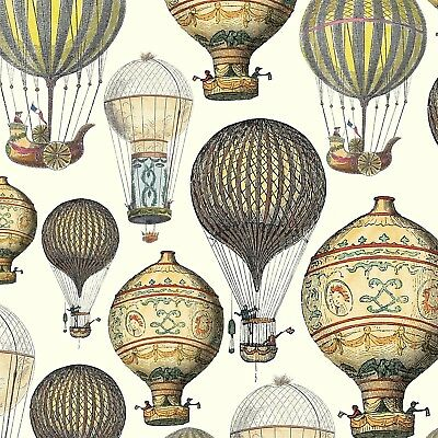 4 x Single Paper Napkins/3 Ply/Decoupage/Craft/Vintage Hot Air Balloons