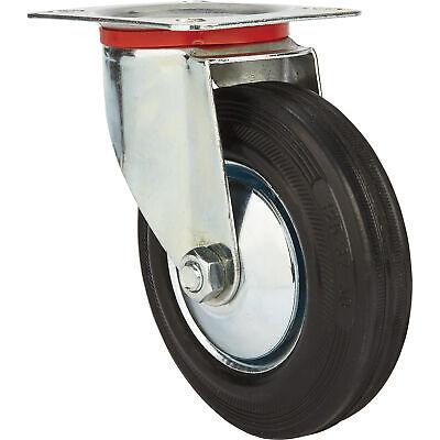 Ironton 5in. Swivel Rubber Caster - 220-lb. Capacity