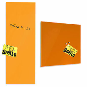 tableau en verre aimant inscriptible 2 tailles memo pense b te orange feu. Black Bedroom Furniture Sets. Home Design Ideas