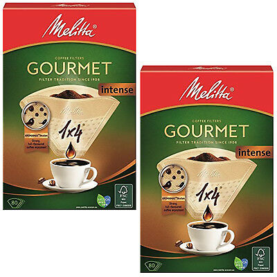 MELITTA 1x4 Gourmet Intense Coffee Maker Machine Filter Paper Cone Filters x 160
