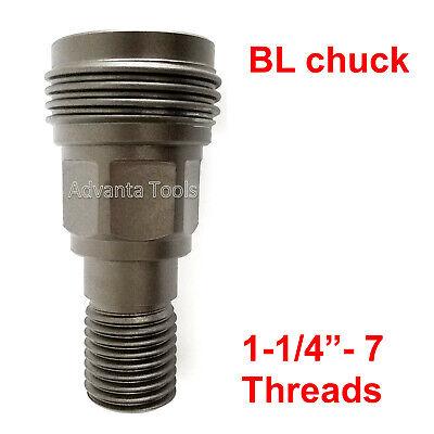 Core Drill Bit Adapter - Convert Hilti Dd-bl Chuck To 1-14-7 Male Threads Bs