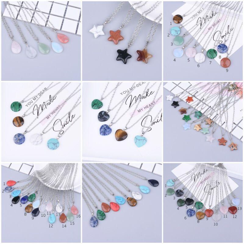 12 necklaces bulk lot natural gemstone jewelry wholesale