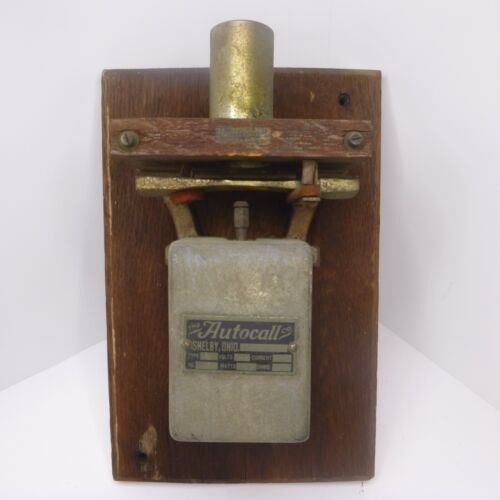VINTAGE AUTOCALL DOORBELL CHIME SERVICE GAS STATION WORKS 1930