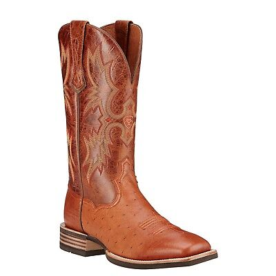 (Ariat Men's Tombstone Brandy Smooth Quill Ostrich Boot 10016277)