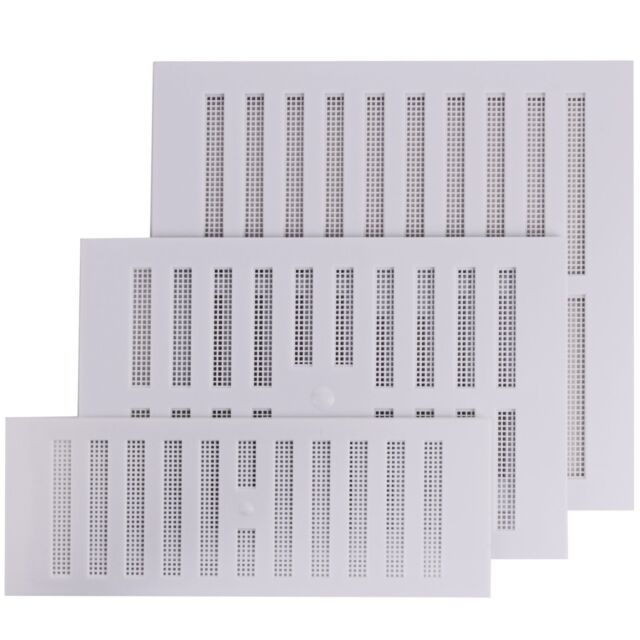 Map White Plastic Adjustable Cover Ventilation Air Vent Grille With Fly Screen