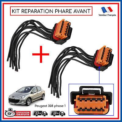 Cable Toma Connection Faro Delantero Peugeot 308 Fase 1