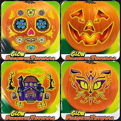 Tattoos For Pumpkins Glow in the Dark HALLOWEEN TATTOO Decoration Tattoos - Dark Halloween Decorations