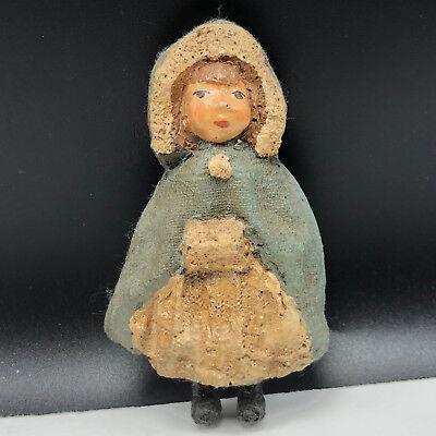 VINTAGE 1979 FIGURINE resin sculpture pilgrim sandy ike spillman winter girl hat - Pilgrim Girl Hat
