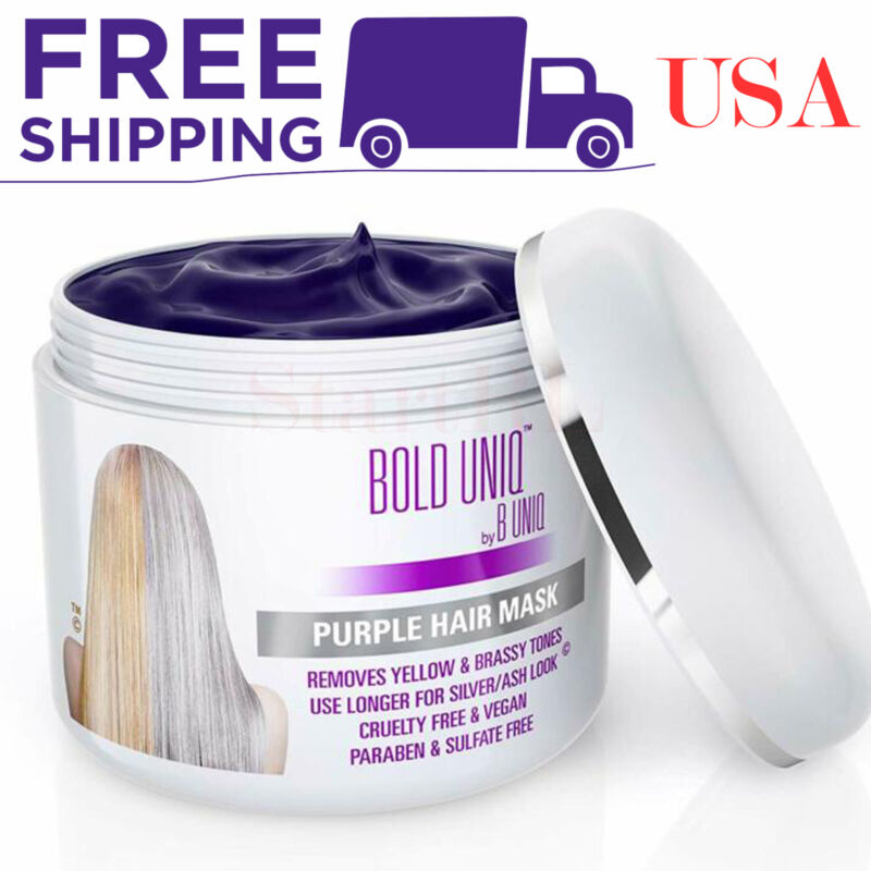Purple Hair Mask for Blonde Platinum and Silver Hair Banish