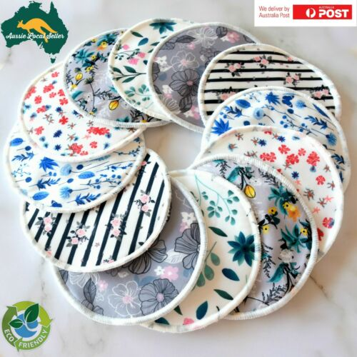 Reusable Breast Pads - Organic Bamboo Nursing Pads (12 Pack) Breastfeeding Mums