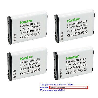 Kastar Replacement Battery Pack for Nikon EN-EL23 MH-67 & Nikon Coolpix P900 900 Replacement Camera Battery