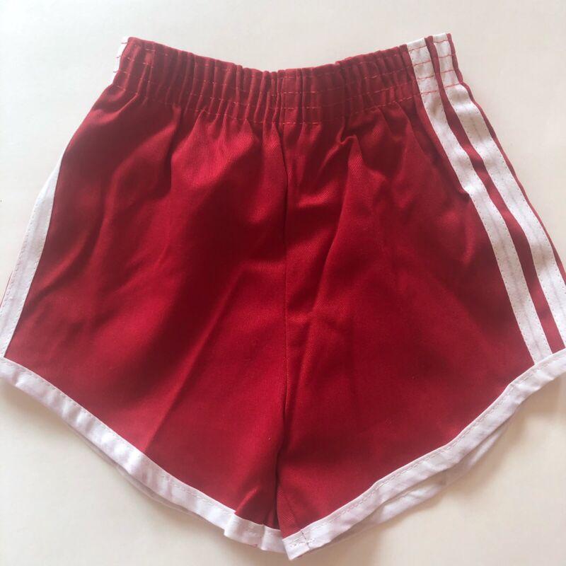 FARRIS FASHIONS NWOT Vintage Red Track Shorts White Stripe 4T 3T