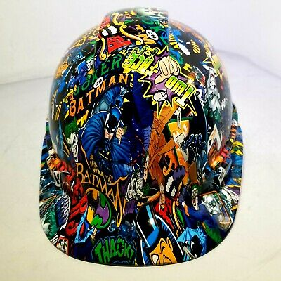Hard Hat Custom Hydro Dipped Osha Approved Batman Vs Joker Color New