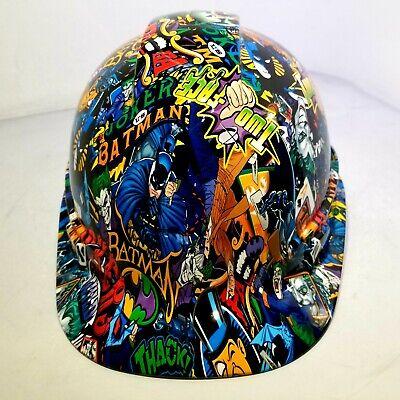 Batman Hard Hat (Hard Hat custom hydro dipped , OSHA approved BATMAN VS JOKER COLOR)