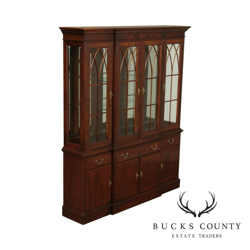 Ethan Allen 18th Century Mahogany Collection Breakfront