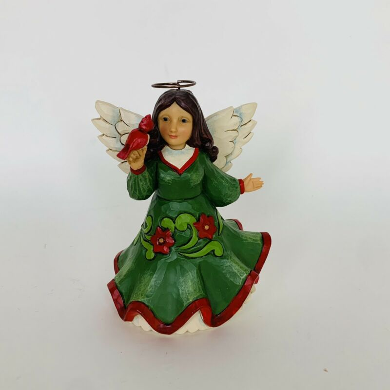 "JIM SHORE ""Christmas Blessings Soar"" Heartwood Creek Angel Figurine"
