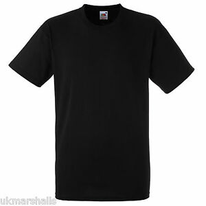 FRUIT-OF-THE-LOOM-PLAIN-BLACK-T-SHIRT-100-COTTON-TEE-SIZES-S-M-L-XL-XXL-XXXL
