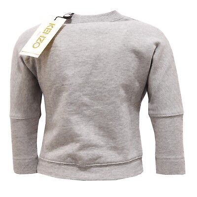 d2ceea531265 2580V felpa bimba KENZO KIDS CELESTINE grey sweatshirt cotton girl ...