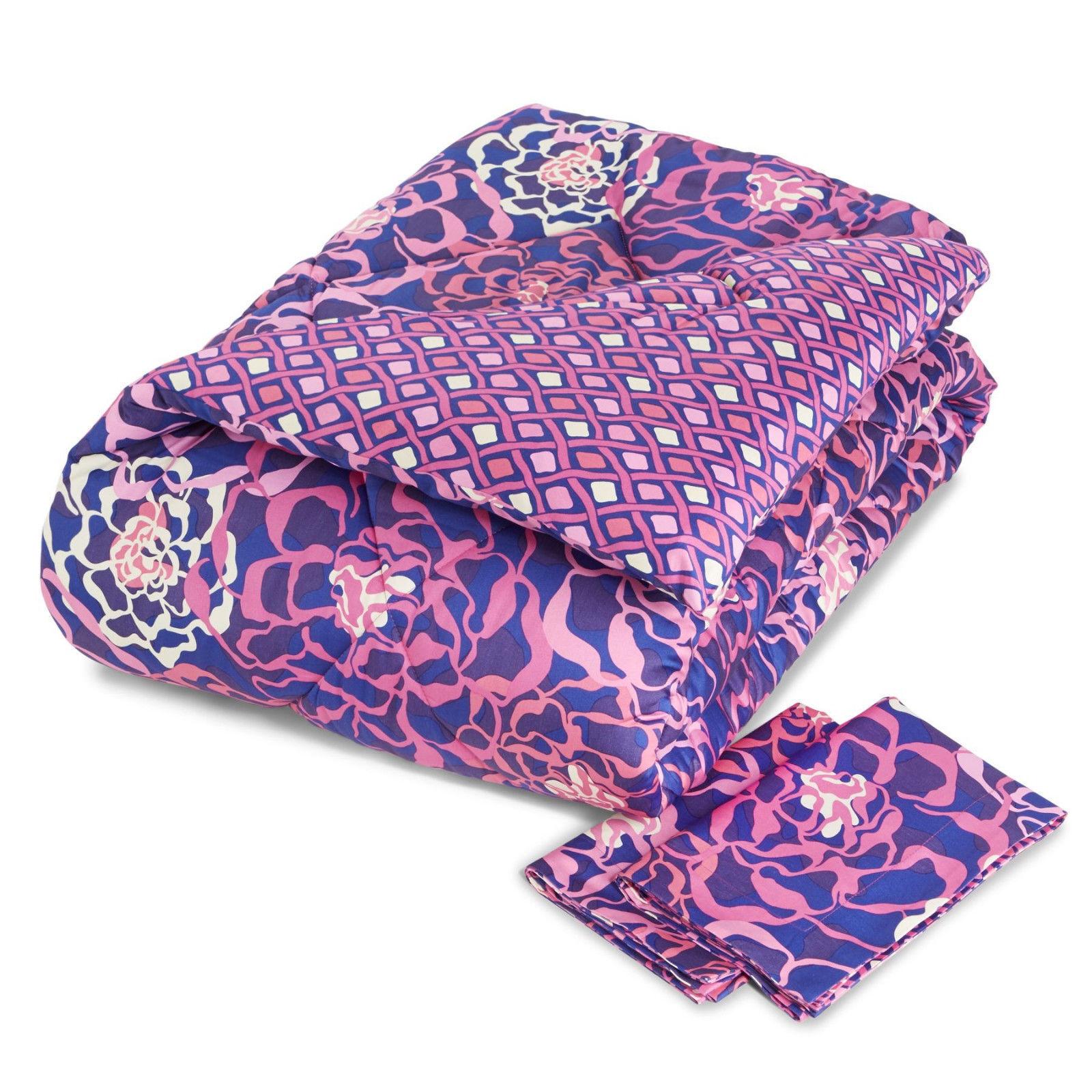NWT Vera Bradley Sateen Comforter Set Full/Queen Katalina Pi